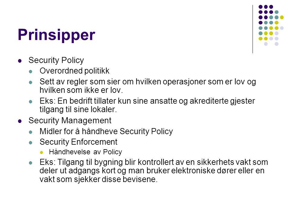 Kryptografi Intruders and eavesdroppers in communication.