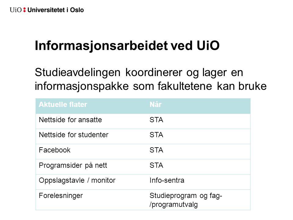 Undersøkelsen er viktig for UiO, fordi: Undersøkelsen kan virke omdømmebyggende Resultatene kan brukes direkte i rekrutteringsarbeid Det blir sannsynligvis stor medieoppmerksomhet rundt resultatene UiO får rådata – disse kan brukes i internt evaluerings- og analysearbeid