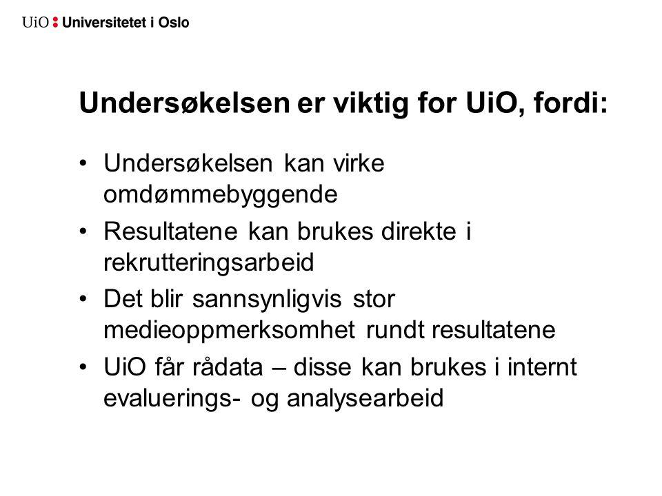 Mer informasjon nokut.no/studiebarometeret Studiebarometeret på Facebook studiebarometeret.no (blir lansert i februar)studiebarometeret.no UiOs kontaktperson: Anne Grete Grude a.g.grude@admin.uio.no a.g.grude@admin.uio.no