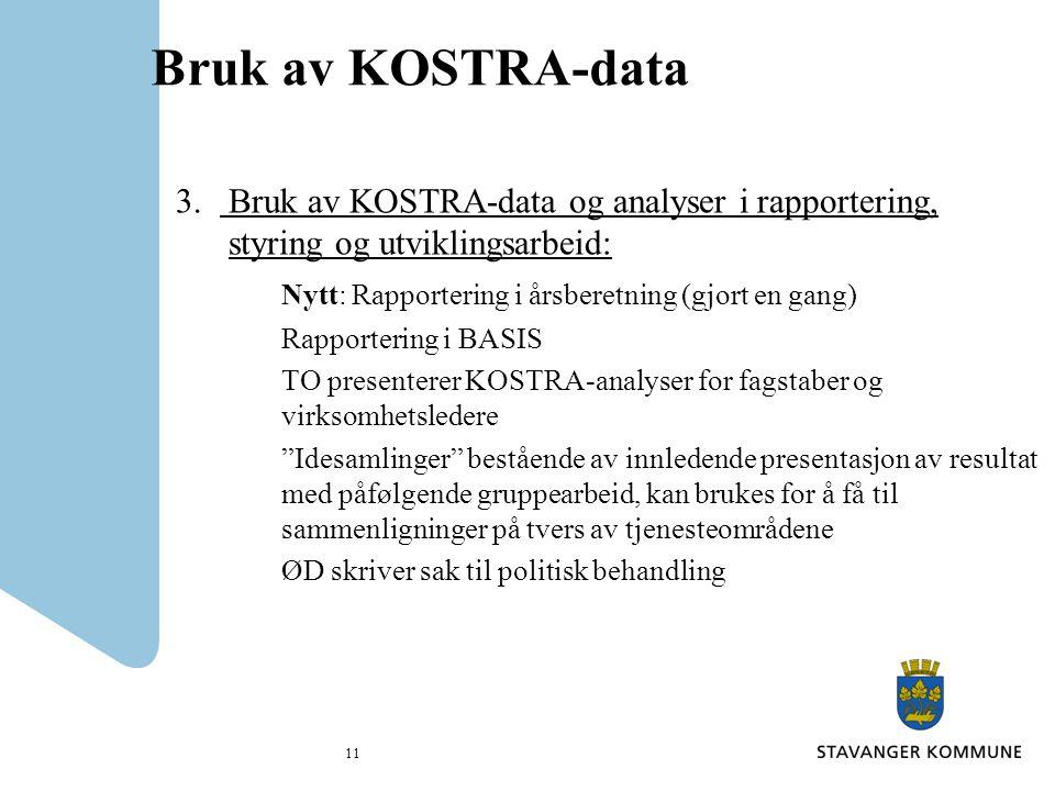 Bruk av KOSTRA-data 3.