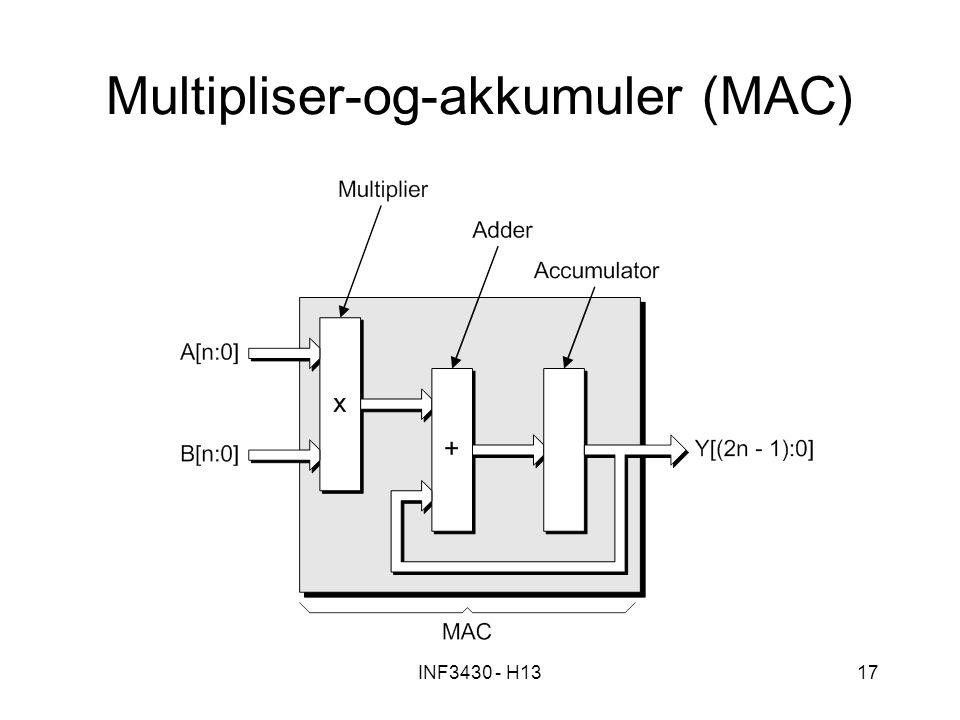 INF3430 - H1317 Multipliser-og-akkumuler (MAC)