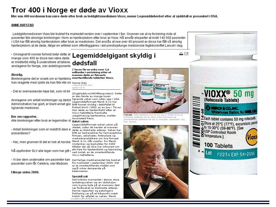HemmerRelativ simvastatin-AUC Erytromycinx 4 Diltiazemx 5 Grapefrukt juicex 7 Itrakonazolx 19 Ritonavirx 32 Metabolisme av andre aktuelle statiner: Atorvastatin (Lipitor ® ) CYP3A4 Fluvastatin (Lescol ® ) CYP2C9 Pravastatin (Pravachol ® ) Fase II/non-metabolisme/( CYP3A4) Clin Pharmacol Ther 1998;64:177 Clin Pharmacol Ther 2000;67:267 Clin Pharmacol Ther 1998;63:332 Clin Pharmacol Ther 1998;64:477 Aids 2002;16:569 Eksempel hemming – simvastatin og CYP3A4-hemmere