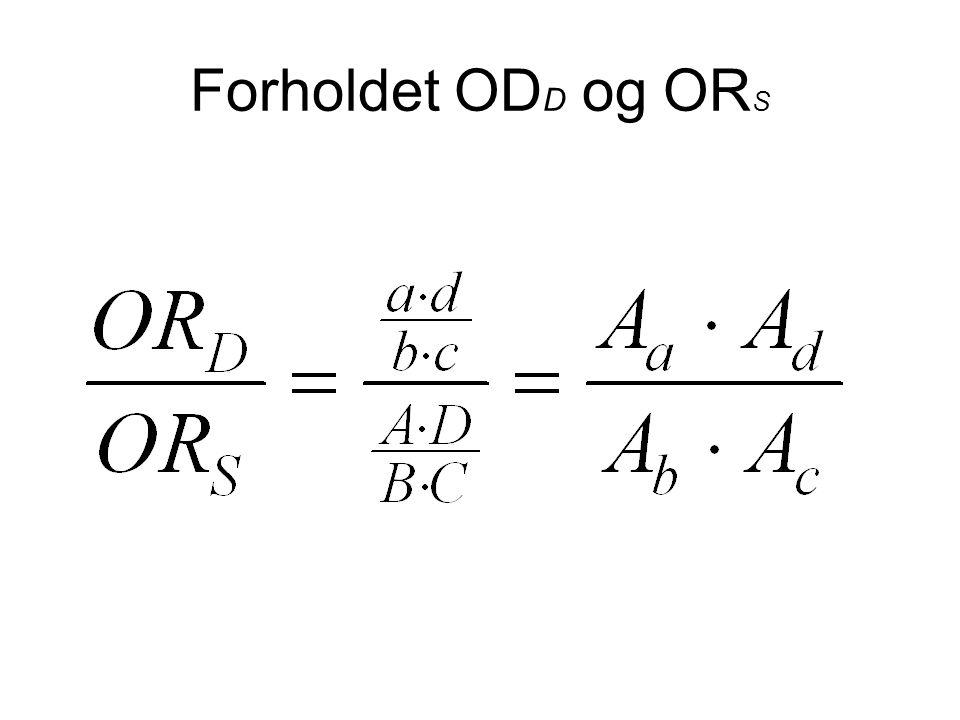 Forholdet OD D og OR S