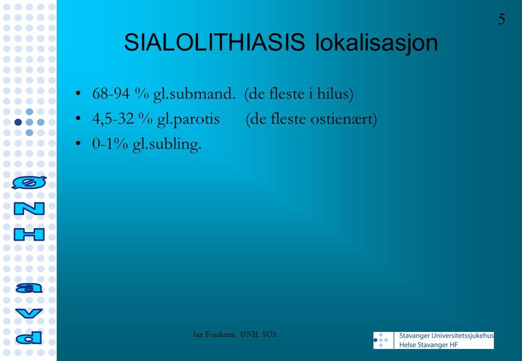 SIALOLITHIASIS etiologi Diabetes Hypertoni Leverpatologi Nyresten Thyreoidpatologi Ingen relasjon til hardhet vann Relasjon medikamenter?, tobakk.