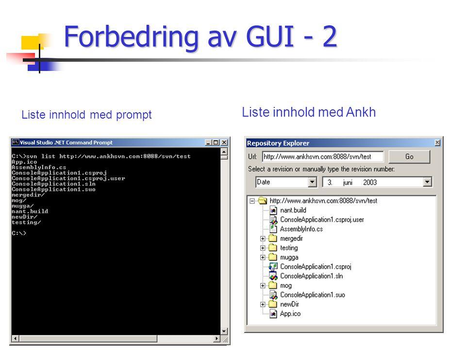 Liste innhold med prompt Liste innhold med Ankh Forbedring av GUI - 2