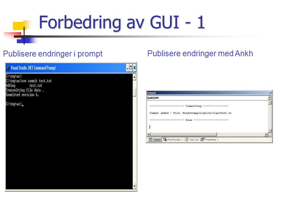 Publisere endringer i prompt Publisere endringer med Ankh Forbedring av GUI - 1
