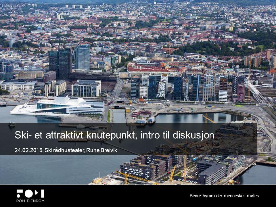 Innhold Bedre byrom der mennesker møtes 1.Innfartsparkering/byutvikling (motstridene interesser ?) 2.Stasjonsnære boliger (eks fra Jessheim)