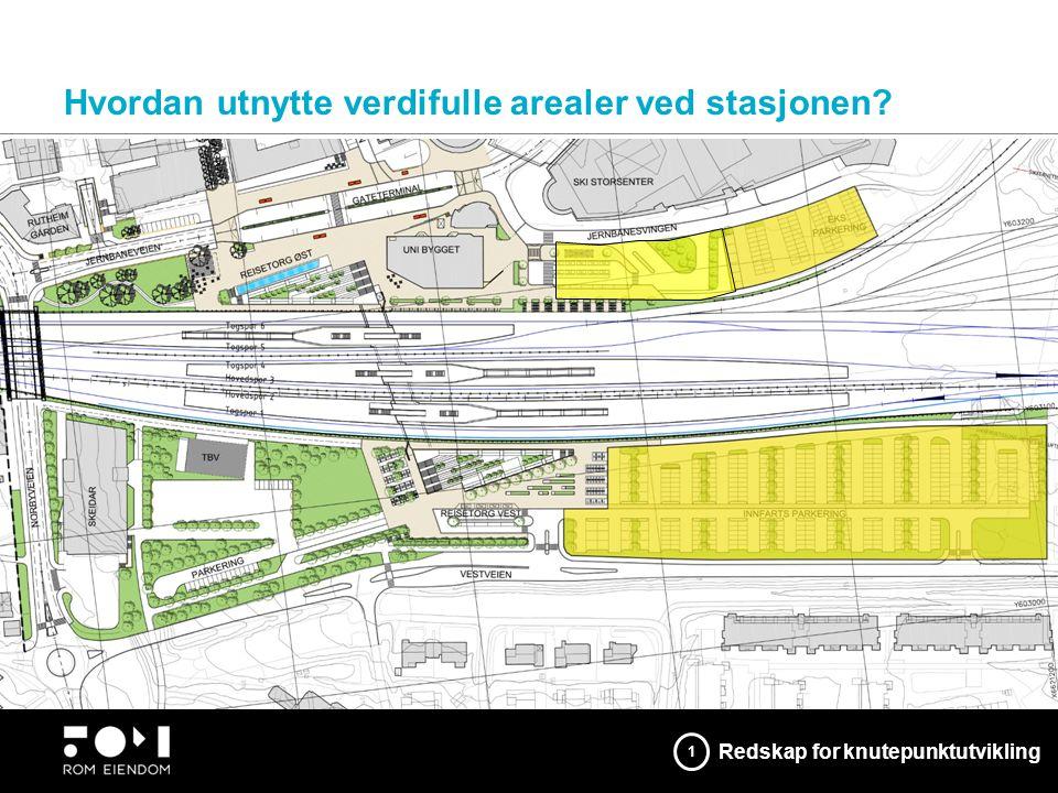 Hvordan utnytte verdifulle arealer ved stasjonen? Bedre byrom der mennesker møtes Redskap for knutepunktutvikling 1