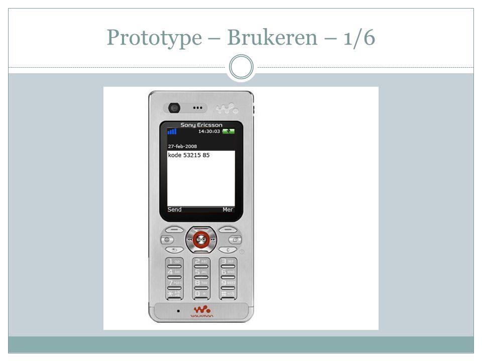 Prototype – Brukeren – 1/6