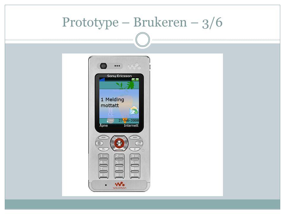 Prototype – Brukeren – 3/6