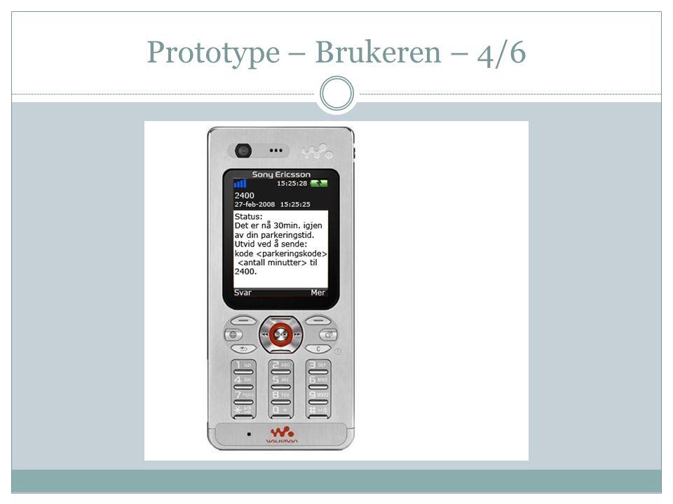Prototype – Brukeren – 4/6