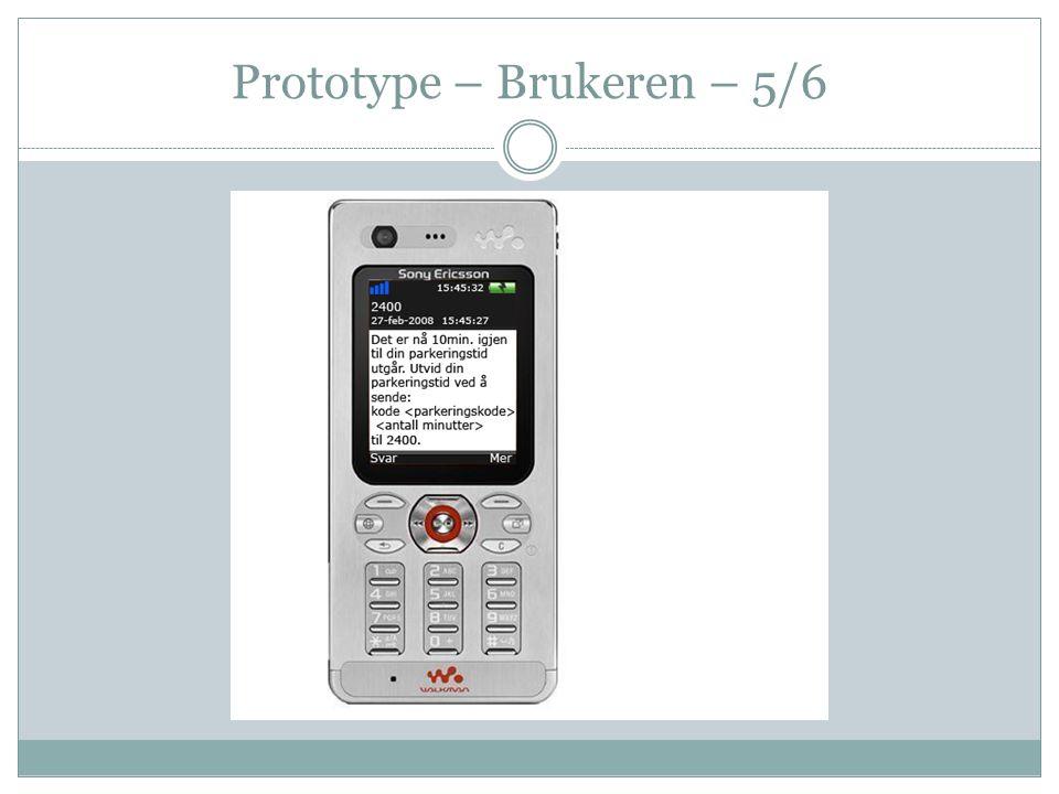 Prototype – Brukeren – 5/6