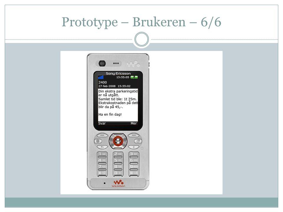 Prototype – Brukeren – 6/6