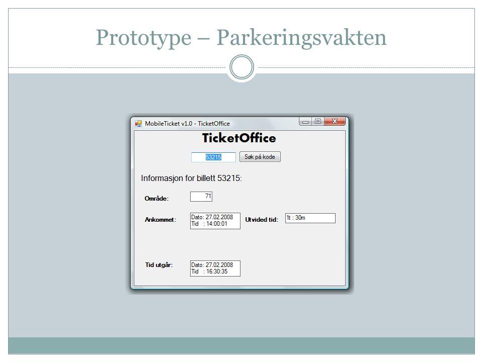 Prototype – Parkeringsvakten