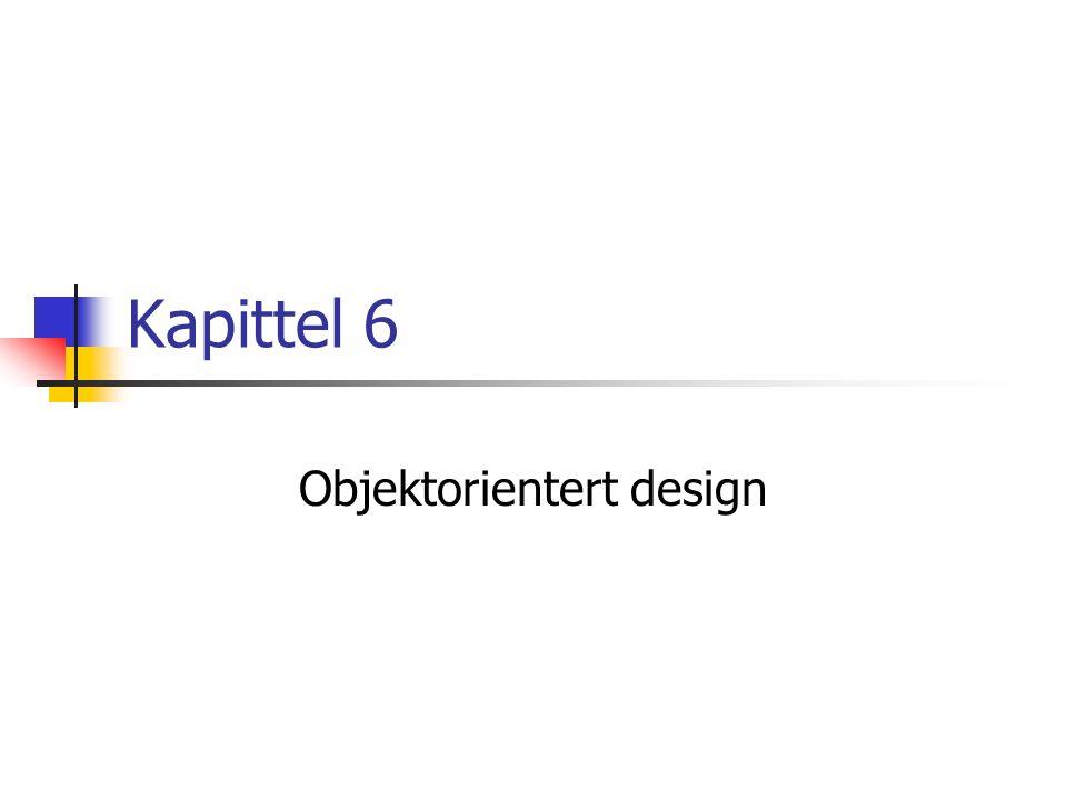 Kapittel 6 Objektorientert design