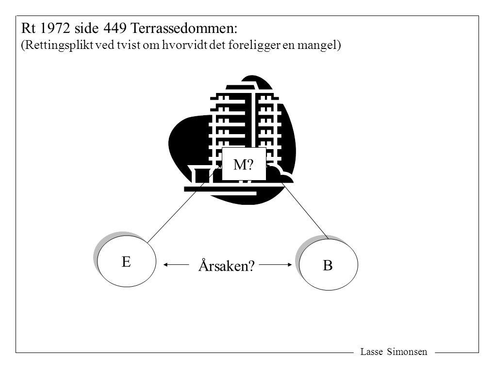 Lasse Simonsen Rt 1972 side 449 Terrassedommen: (Rettingsplikt ved tvist om hvorvidt det foreligger en mangel) E E B B M.