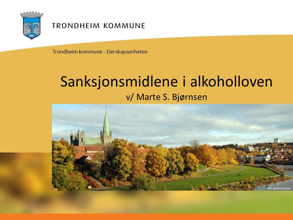 Foto: Carl-Erik Eriksson Sanksjonsmidlene i alkoholloven v/ Marte S.