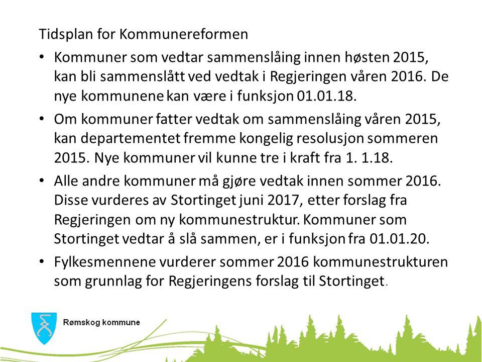 Mulige konsekvenser av Kommunereformen Betydelig reduksjon i antall kommuner Kommunegrensene vil i større grad falle sammen med «funksjonelle geografiske områder».