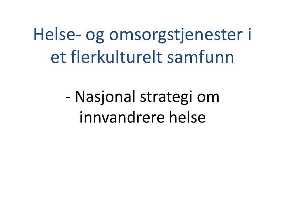 Helse- og omsorgstjenester i et flerkulturelt samfunn - Nasjonal strategi om innvandrere helse
