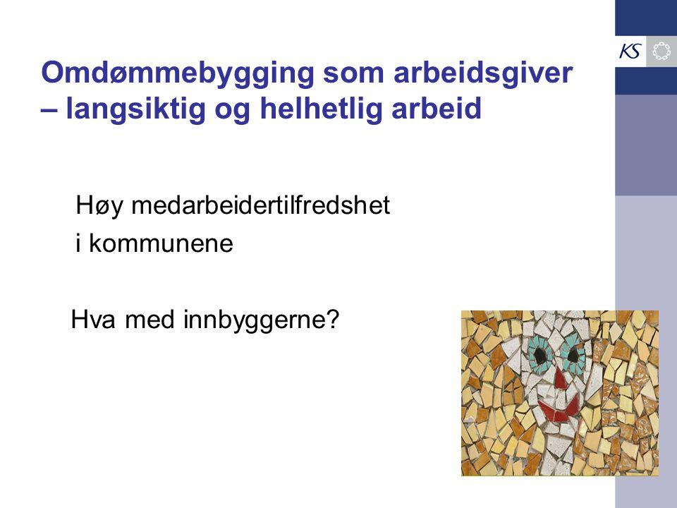 Høy medarbeidertilfredshet i kommunene Hva med innbyggerne.