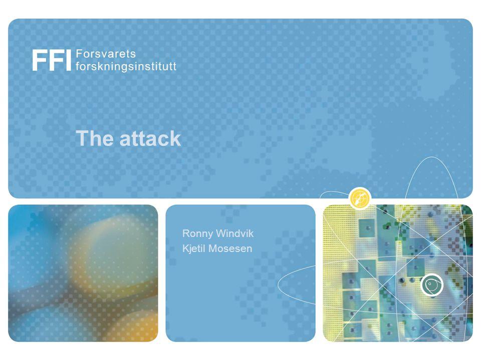 Agenda Security issues Scenario for the attack The attack