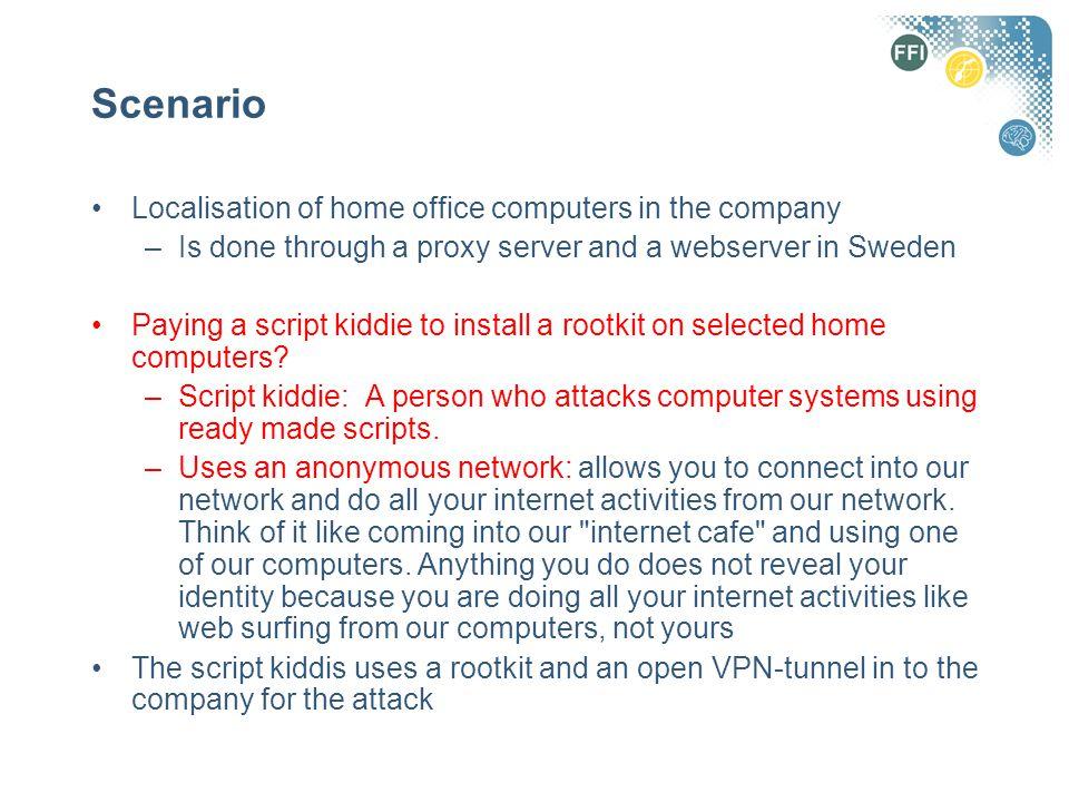 Attack on company's web server Betingelser –Web-tjeneren/serveren er en Windows maskin –Kjører Internet Information Server (IIS) (web-tjeneren til Microsoft) –Har ikke installert patchene for feilene/sikkerhetshullene vi skal utnytte
