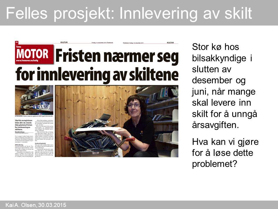 Kai A.Olsen, 30.03.2015 26 Konklusjon Verden blir symbolsk.