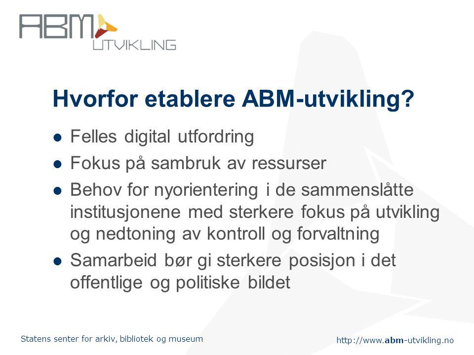 http://www.abm-utvikling.no Statens senter for arkiv, bibliotek og museum ABM-utvikling og aktuelle bibliotekpolitiske tema Leikny Haga Indergaard 15.