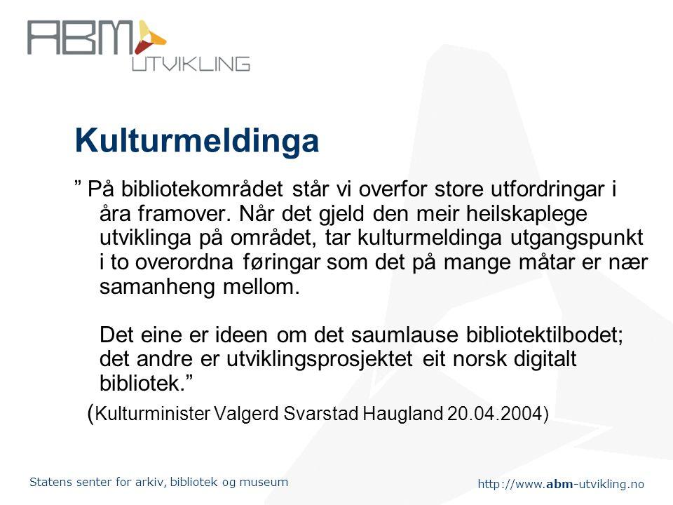 http://www.abm-utvikling.no Statens senter for arkiv, bibliotek og museum Endringer i kommunestruktur og regional struktur Distriktskommisjonens forsl