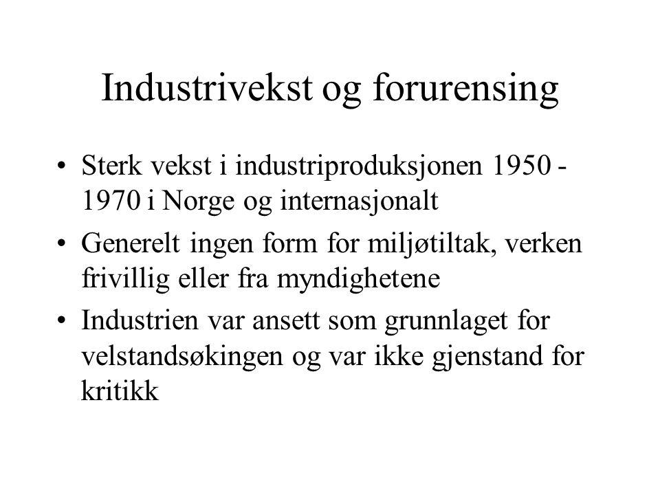 Lokalt store problemer i Norge, særlig ved Årdal og Sunndal verk i Årdal, med skogdød pga.