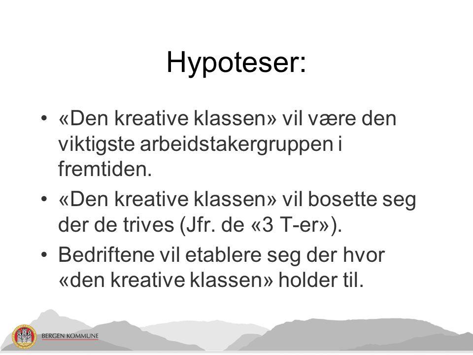 Hypoteser: «Den kreative klassen» vil være den viktigste arbeidstakergruppen i fremtiden.