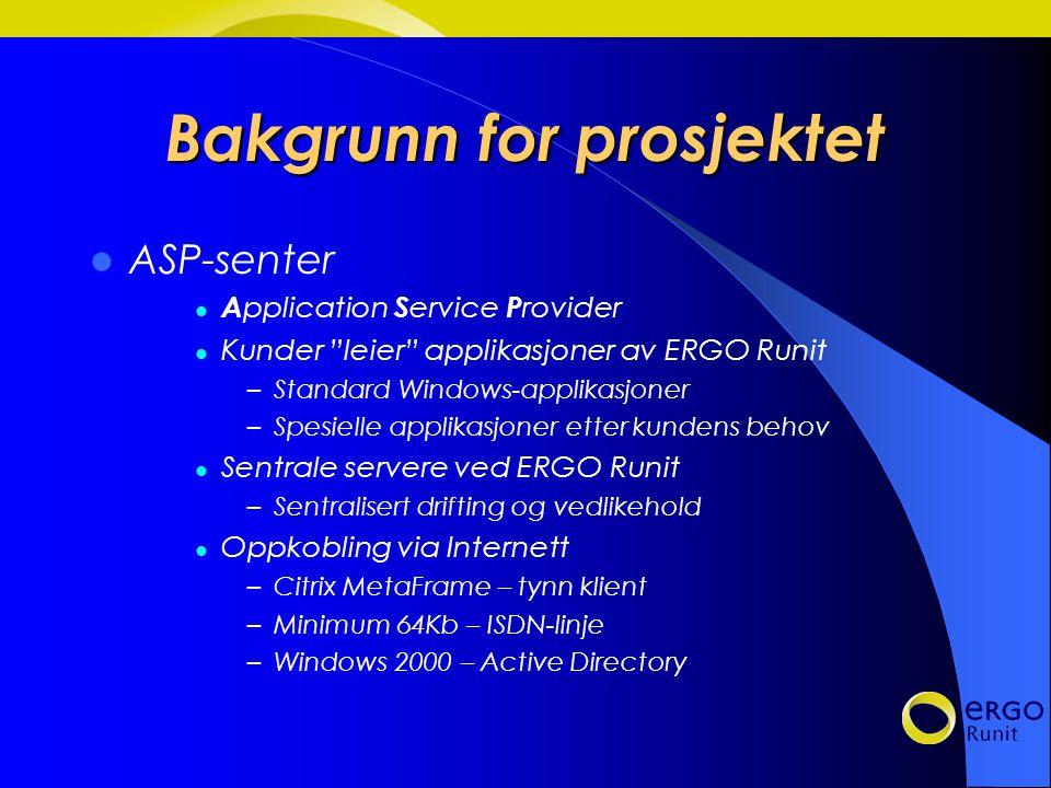 ERGO Runit Kunder / Marked Forskning / undervisning Rådgivende ingeniører Offentlig sektor Konsulenter Teknologibedrifter Bygg / anlegg Prosjektorientert og industrirettet virksomhet