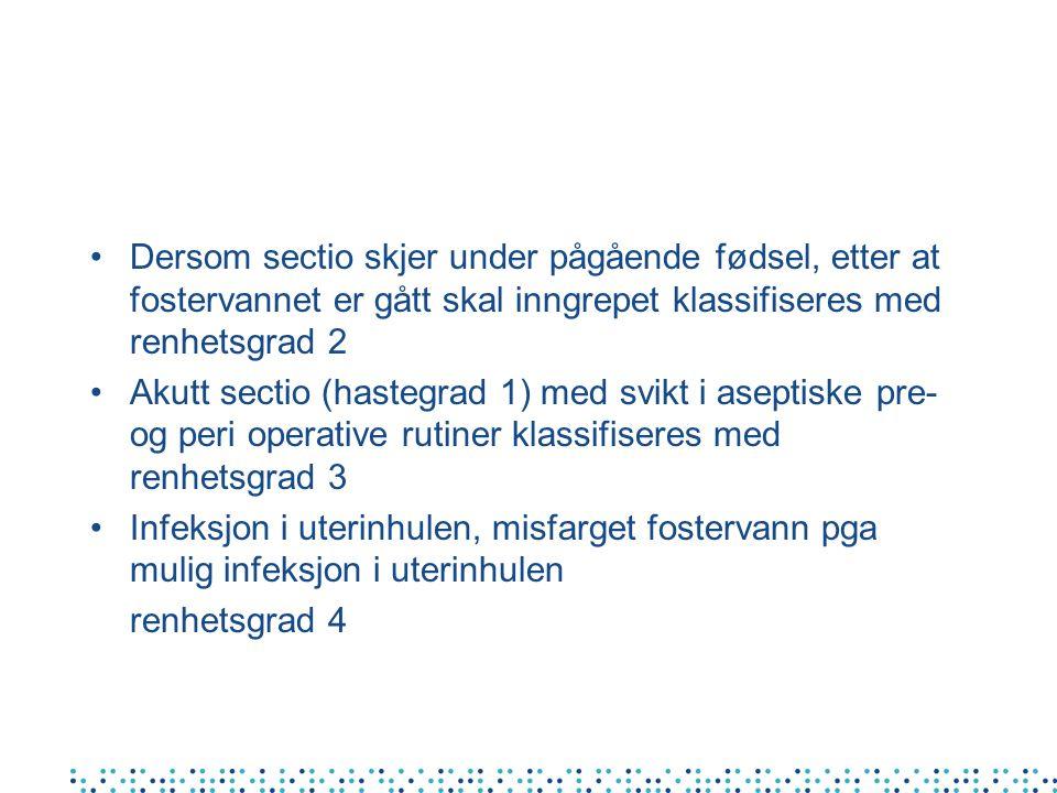 Kasuistikk # 2 Pas.med sectio 14.11. - reinnlagt gyn 21.11.