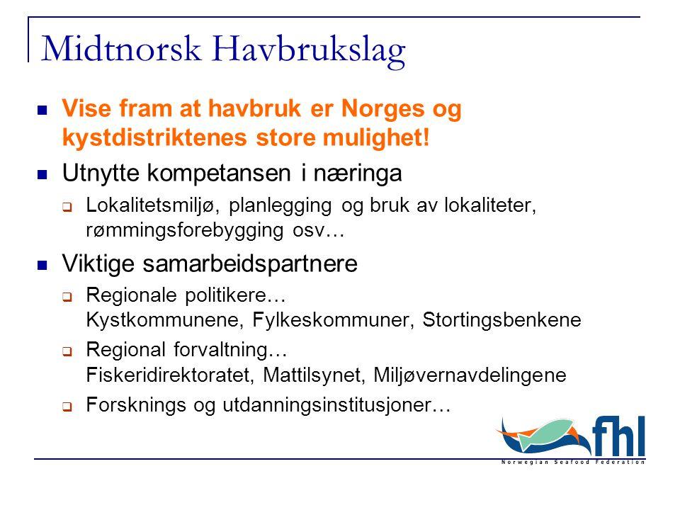 Midtnorsk Havbrukslag Vise fram at havbruk er Norges og kystdistriktenes store mulighet.