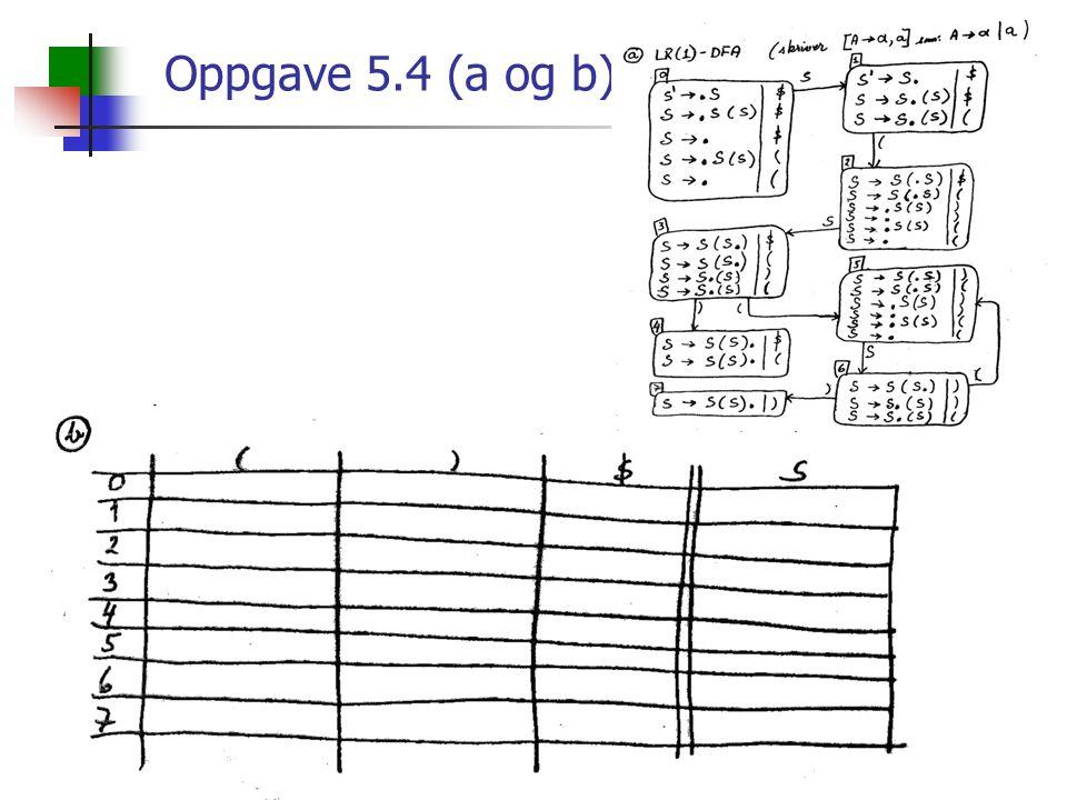 Oppgave 5.4 (a og b)