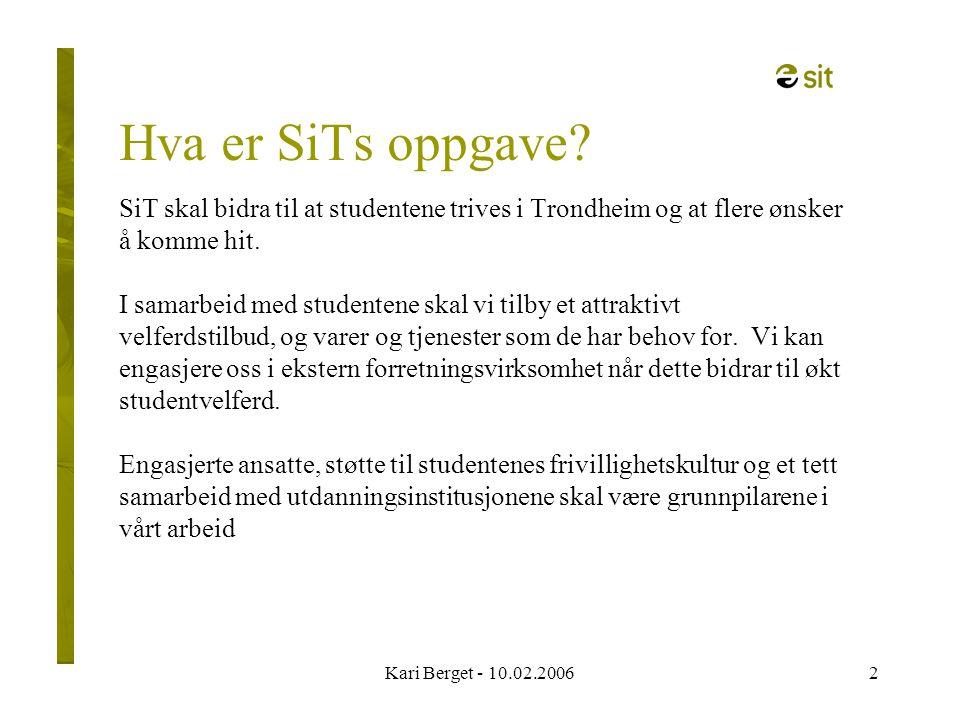 Kari Berget - 10.02.200613 SiT helsestasjon Torsdager fra kl.