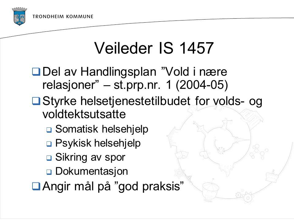 Veileder IS 1457  Del av Handlingsplan Vold i nære relasjoner – st.prp.nr.