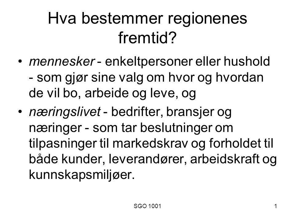 SGO 10012 Befolkningsendring i Norge