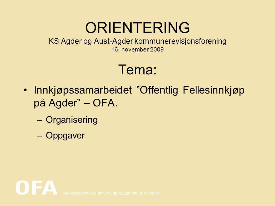 Utvikling/rammeforutsetninger for innkjøpsfunksjonen i AAFK/OFA 1994 Innkjøpsmedarbeider ansettes i 100% stilling.