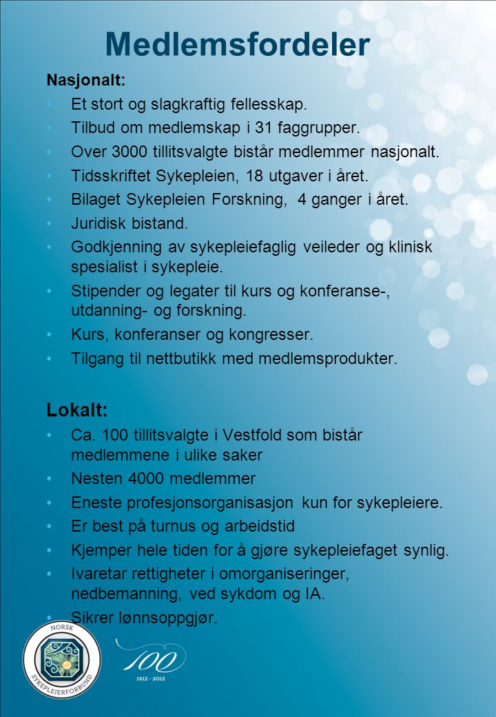 Andre medlemsfordeler: Avtale med Norwegian, rabatt på flyreiser.