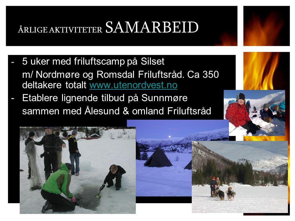 ÅRLIGE AKTIVITETER SAMARBEID - 5 uker med friluftscamp på Silset m/ Nordmøre og Romsdal Friluftsråd.