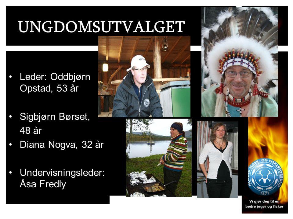 UNGDOMSUTVALGET Leder: Oddbjørn Opstad, 53 år Sigbjørn Børset, 48 år Diana Nogva, 32 år Undervisningsleder: Åsa Fredly