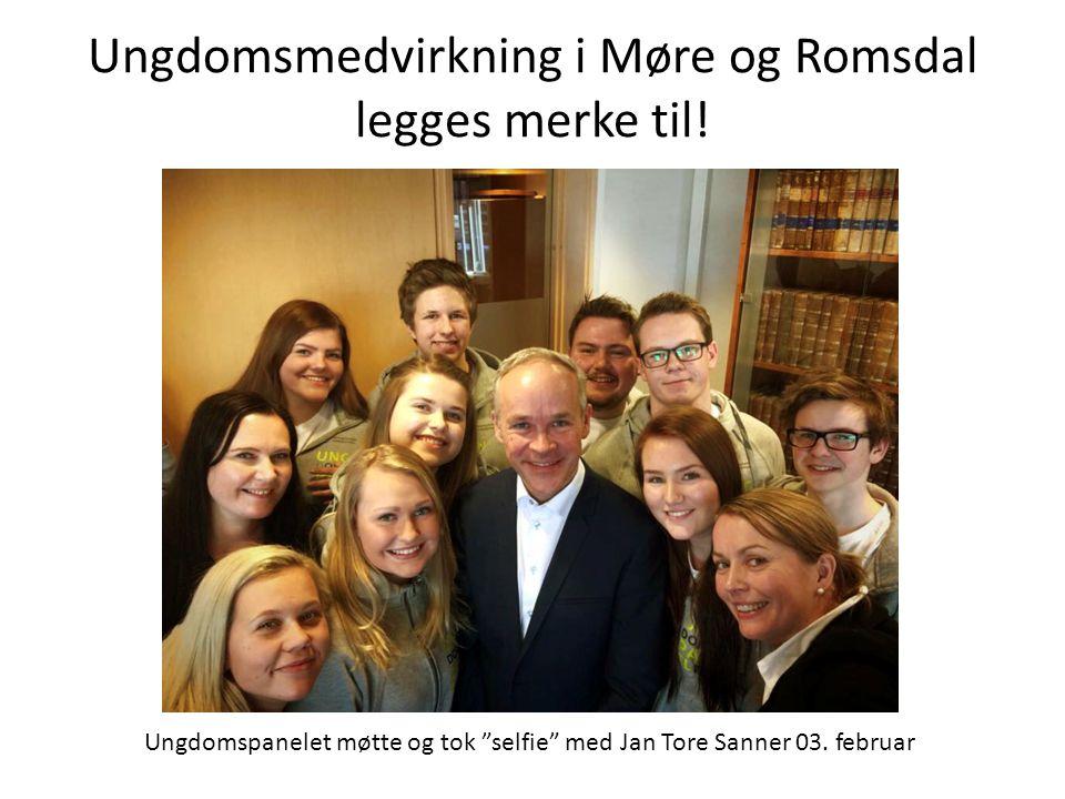 """Ungdomsmedvirkning i Møre og Romsdal legges merke til! Ungdomspanelet møtte og tok """"selfie"""" med Jan Tore Sanner 03. februar"""