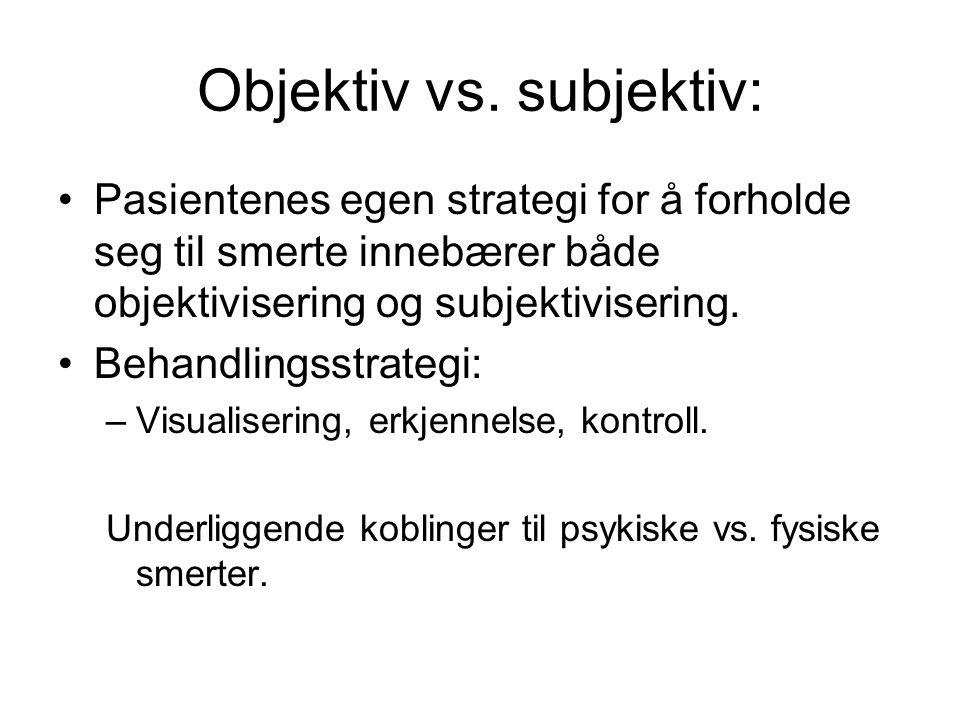 Objektiv vs.