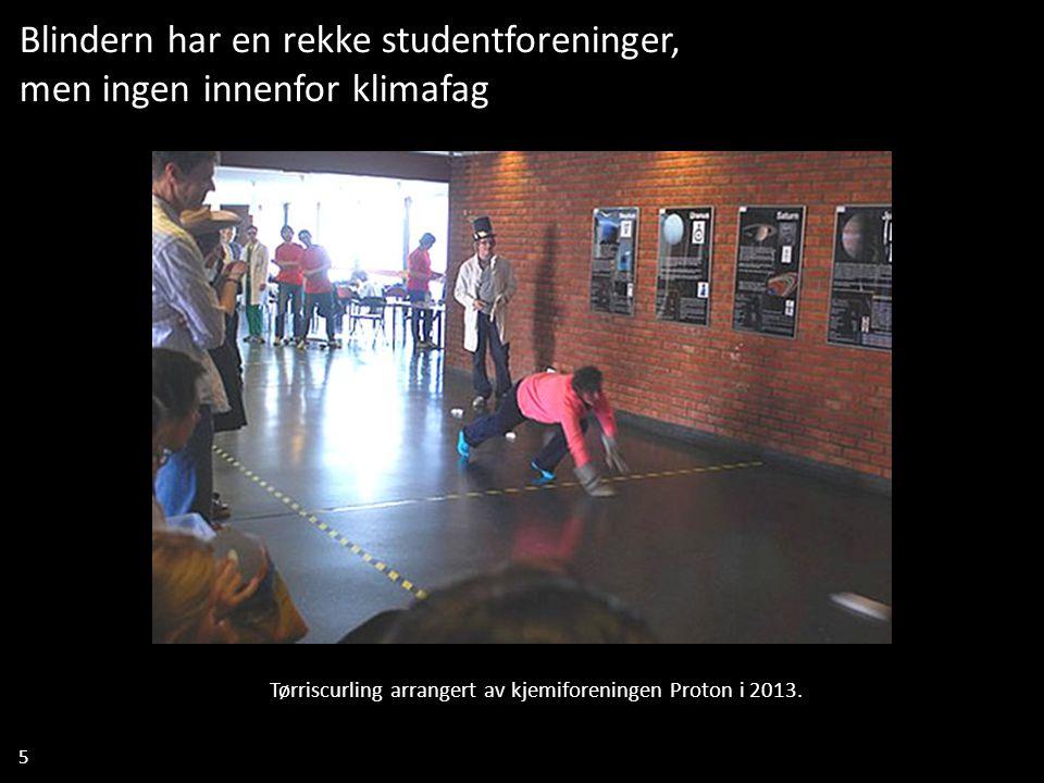 5 Blindern har en rekke studentforeninger, men ingen innenfor klimafag Tørriscurling arrangert av kjemiforeningen Proton i 2013.