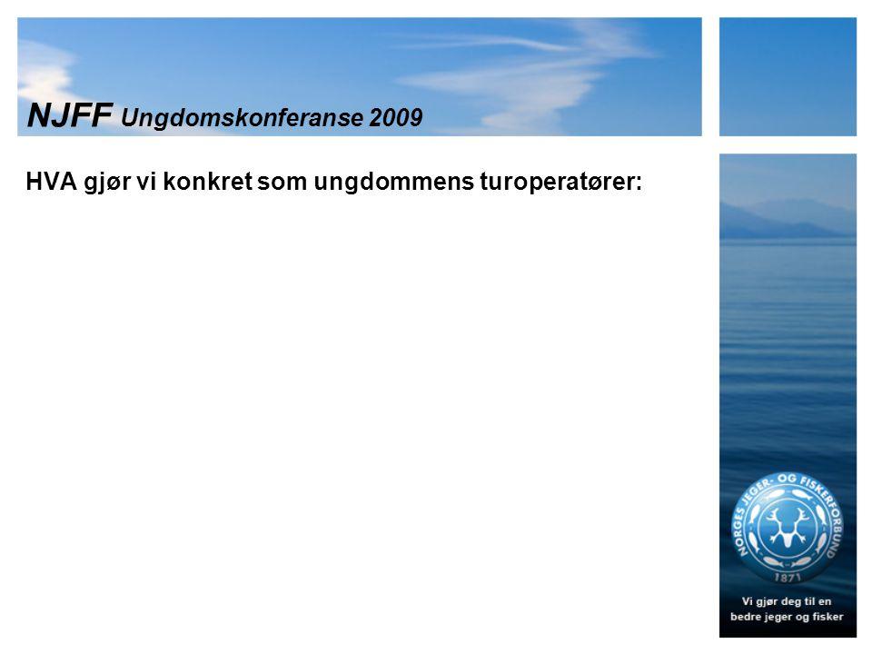 NJFF Ungdomskonferanse 2009 HVA gjør vi konkret som ungdommens turoperatører: