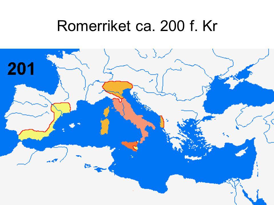 Romerriket ca. 200 f. Kr