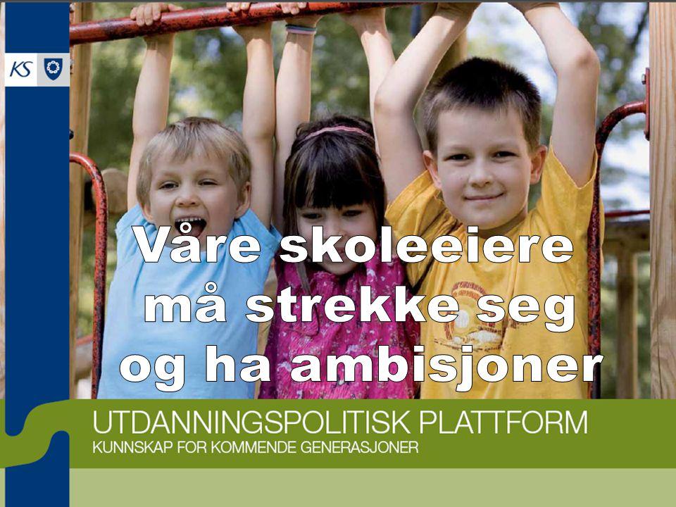 KS Utdanning Presentasjon 2009 Hovedutfordringer: Det globale kunnskapssamfunnets krav til kunnskaper, ferdigheter og holdninger og den enkeltes og fellesskapets evne til læring og omstilling.