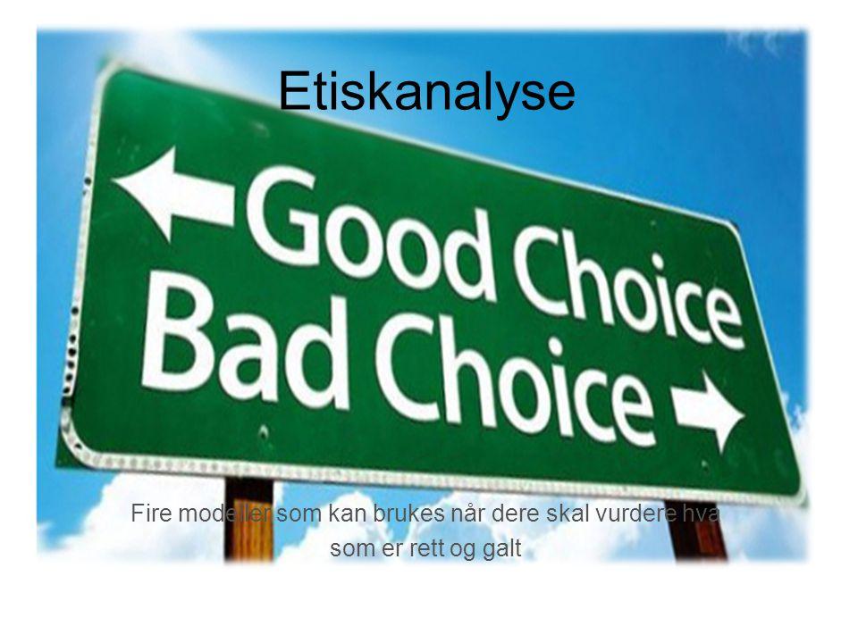 Begrepene etikk og moral Etikk Etikk handler om å vurdere hva som er rett og galt.