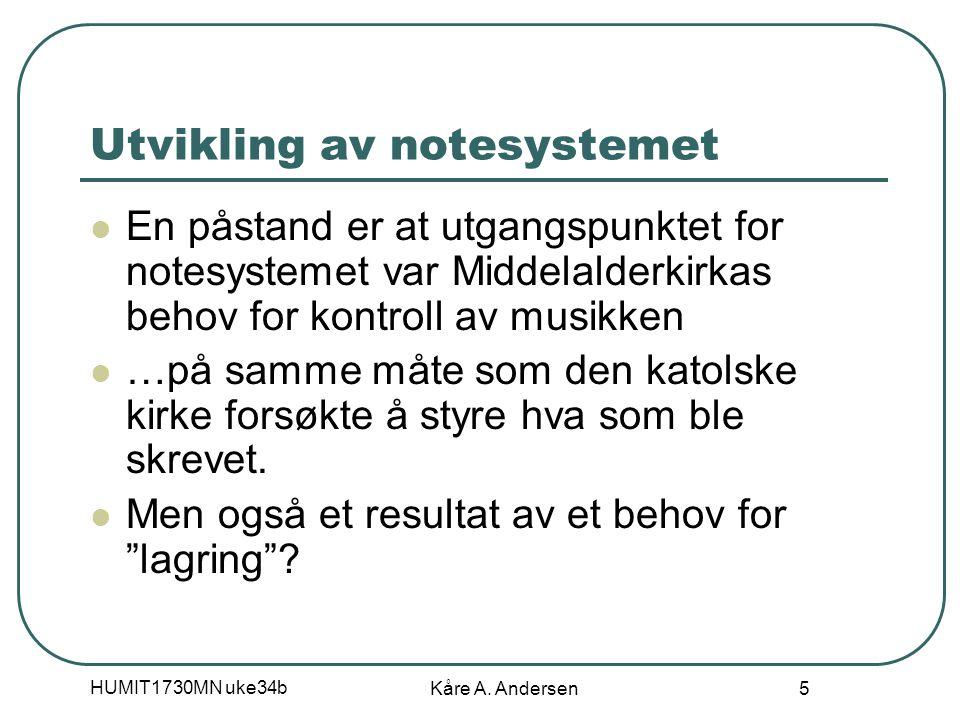 HUMIT1730MN uke34b Kåre A. Andersen 16 Typografisk koding